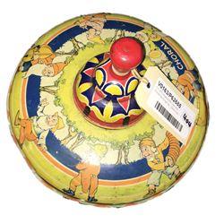 * Tin Litho Wyandotte Toys USA Choral Spinning Top - 24cm Dia.