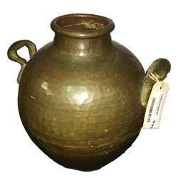 * Antique Hand Beaten Copper Urn