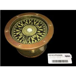 * Early Copper & Brass Heath & Co. Ships Compass - 13cm Dia.