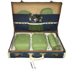 * Mid Century Picnic Case with Contents