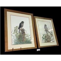 * Pair of Karen Baddock Bird Prints