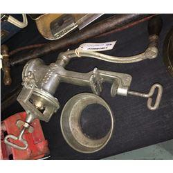 * Large Vintage Corona Bench Mounted Mincer