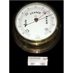 * Vintage Brass Sestrel English Made Marine Barometer