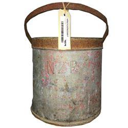 * Antique NZR Galvanized Firebucket