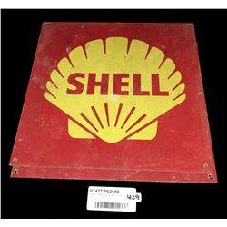 * Two Vintage Tin Shell Petrol Signs