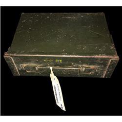 * Vintage Steel Army Ammo Tin