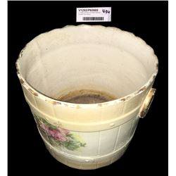 * Large Victorian Porcelain Garland Bucket Plant Stand