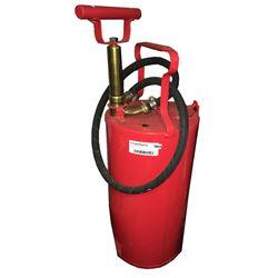 * Antique Red Hand Pump Fire Extinguisher