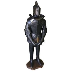 * 1960's Knight in Full Suit of Armour with Sword