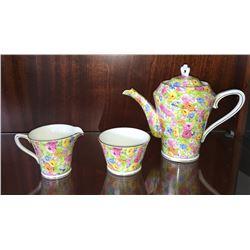 * Vintage Collingwoods Chintz Teapot, Sugar & Creamer