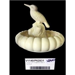 * Crown Lynn Kingfisher Vase in Float Bowl