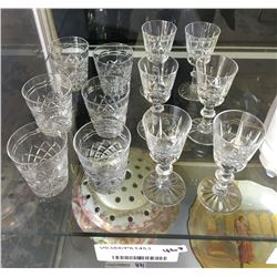 * Two Sets of Six Crystal Glasses Inc. Richardson UK