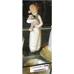 * Lladro Girl with Lamb Figurine