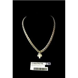 * 18ct Gold Necklace with 2 Carats of Diamonds Encrusted Cross