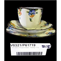 "* Art Deco Royal Albert  ""Pansy"" Trio"