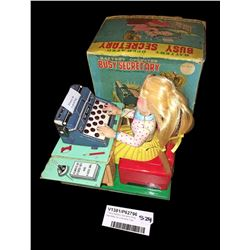 * Early Battery Operated 'Busy Secretary' by Linemans Toys