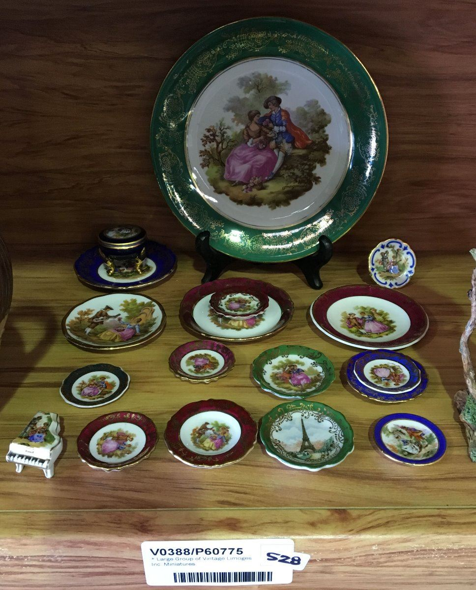 * Large Group of Vintage Limoges Inc  Miniatures