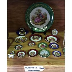 * Large Group of Vintage Limoges Inc. Miniatures