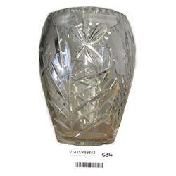 * Large Vintage Crystal Vase