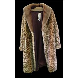 * Vintage Beaver Fur Coat (Animal Prinked)