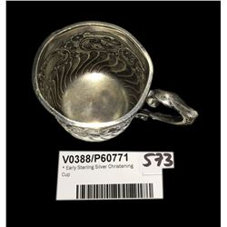 * Early Sterling Silver Christening Cup