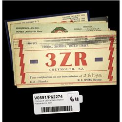 * Group of 1930's Radio Station Postcards Inc. 3ZR