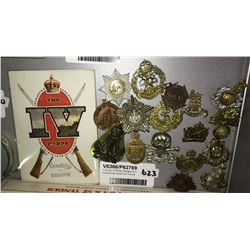 * Group of Military Badges & IV Corps Xmas Card from France