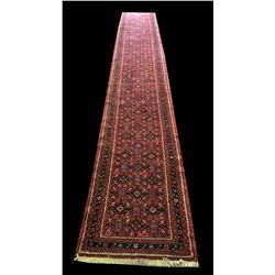* Hand Knotted Middle Eastern Hall Runner in Ruby Hue's 4700mm