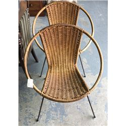 * Pair of Early Coolie Cane Chairs
