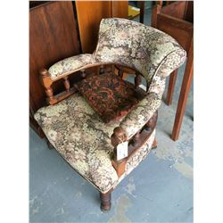* Antique Mahogany Frame Parlour Chair
