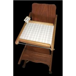 * Antique Kauri Child's Highchair
