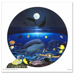 Moonlight Celebration LIMITED EDITION Giclee on Canvas by renowned artist WYLAND, Numbered and Hand