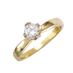 14KT Yellow Gold Diamond Solitaire Ring - #1852