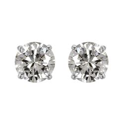 14KT White Gold Diamond Stud Earrings - #1719