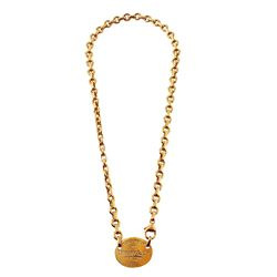 Tiffany & Co 18KT Yellow Gold Return to Tiffany Oval Tag Necklace - #1393