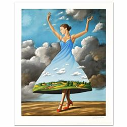 Texture of Casual Desire Limited Edition Hand Pulled Original Lithograph by Rafal Olbinski, Numbered