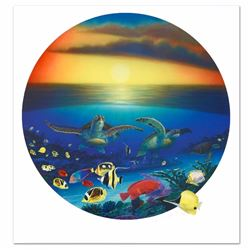 Sea Turtle Reef Limited Edition Lithograph by Famed Artist Wyland, Numbered and Hand Signed with Cer