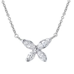 14KT White Gold Diamond Necklace - #1859