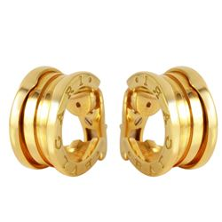 BVLGARI 18KT Yellow Gold Hoop Earrings - #301