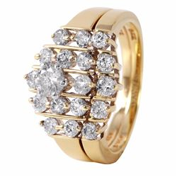 14KT Yellow Gold Diamond Engagement Ring - #644