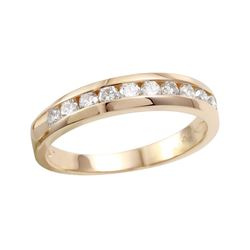 14KT Yellow Gold Diamond Wedding Band - #747