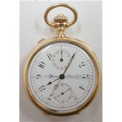 Louis Audemars Rattrapante Chronograph 18KT Gold Pocket Watch - #829
