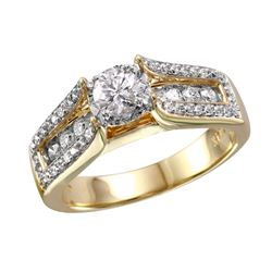 14KT Yellow Gold Diamond Engagement Ring - #1815