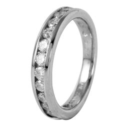 Platinum Diamond Wedding Band - #537