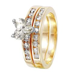 14KY Yellow Gold Diamond Engagement Ring - #1517