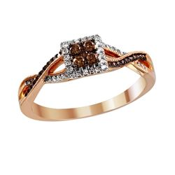 10KT Rose and Yellow Gold Diamond Ring - #2056