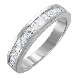 14KT White Gold Diamond Wedding Band - #1592