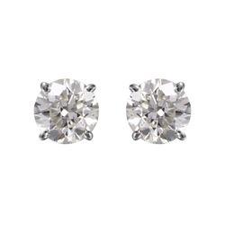 14KT White Gold Diamond Stud Earrings - #1711