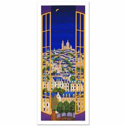 Windows On Paris Limited Edition Serigraph by Fanch Ledan, Numbered and Hand Signed with Certificate