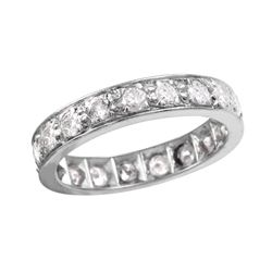Platinum Diamond Eternty Wedding Band - #742